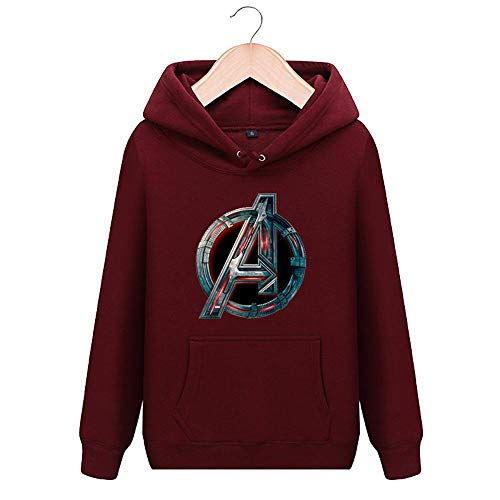 YWEIWEI Marvel Shield Agent Pullover Avengers 3 Infinite War Kleidung Marvel Hooded Jacket Unisex Sweatshirt (Plus Velvet) B-S
