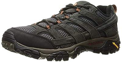 Merrell Men's Moab 2 Vent Hiking Shoe, Beluga, 11.5 2E US