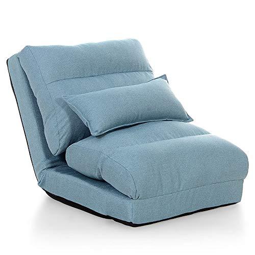 JOMSK Sofá Simple Silla Suelo Sencilla con Respaldo Ajustable For La Oficina De La Sala Azul (Color : Blue, Size : Free Size)