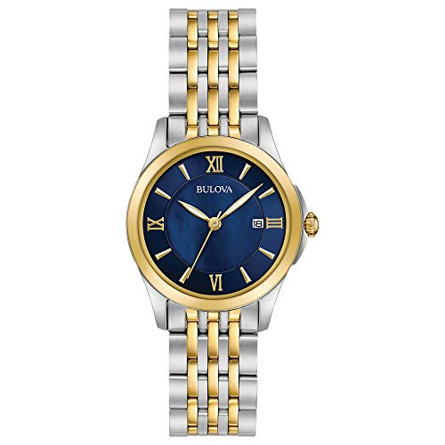 Bulova Women's Quartz Stainless Steel Dress Watch, Color:Two Tone (Model: 98M124)