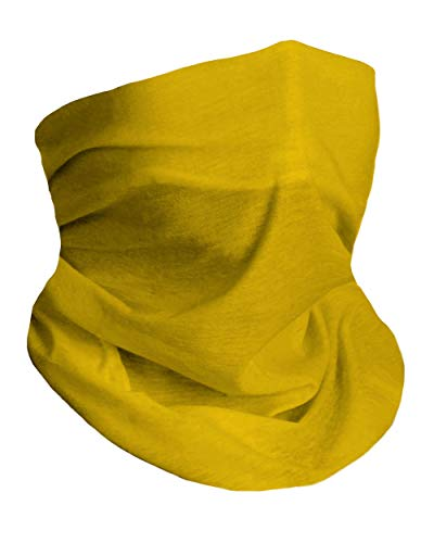 Soft Yellow Breathable Neck Gaiter Masks Half Face Cover Wrap Cool Mask Bandana Festival Rave Balaclava Scarf INTO THE AM