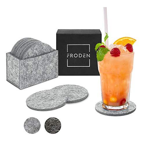 FRODEN Filzuntersetzer - Premium Glasuntersetzer aus Filz [10erSet] - Stilvolle Untersetzer als Schutz gegen Flüssigkeiten