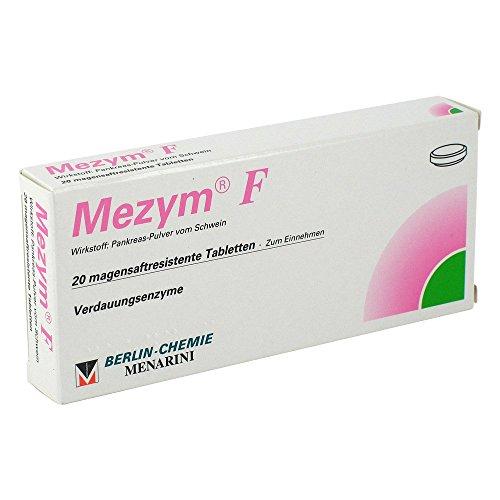 MEZYM F magensaftresistente Tabletten 20 St