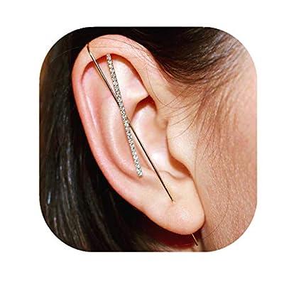 Nihewoo Pair of Ear Wrap Crawler Hook Earrings,Jewelry Hook Earrings for Women Girls Ear Wrap Ear Cuff Earring
