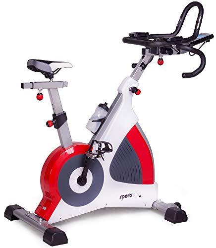 SportPlus Speedracer, Bicicleta Estática con Freno de Corrientes Inducidas de hasta 500 Vatios, Peso hasta 150 kg, Clase S.A. Calidad de Estudio