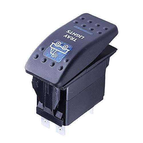 Mintice veicolo auto 12V 20A LED blu interruttore a bilanciere luce 5Pin Tray Light