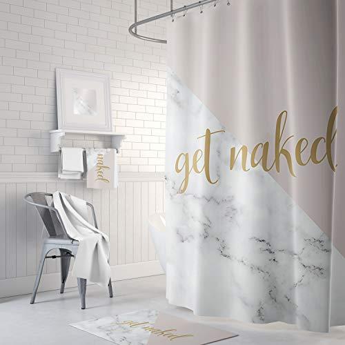 Qui556 Get Naked Duschvorhang Blush Pink Gold Marble