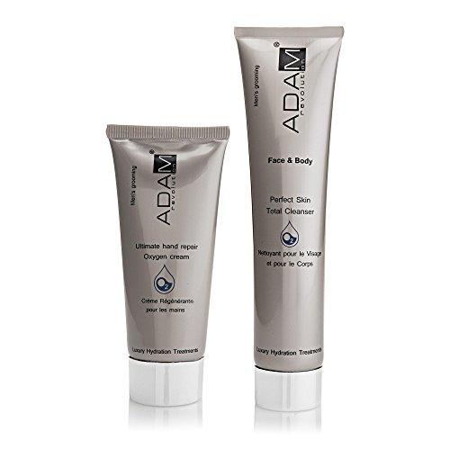 ADAM REVOLUTION Kit pour homme : Crème pour Mains, 100 ml + Nettoyant pour Visage/Corps, 200 ml