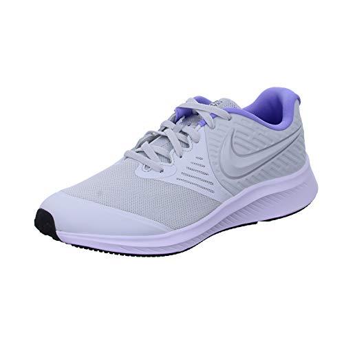 Nike Girls Star Runner 2 Running Shoes Sneakers, Photon Dust White Light, 4 M