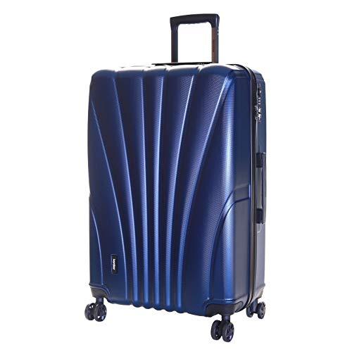 Karabar Trolley Bagaglio da Stiva Dura Valigia Rigida Leggera Grande XL 76 cm 4,5 kg 100 litri con Rotelle Pivotanti e Lucchetto TSA Integrato, Seashell Blu