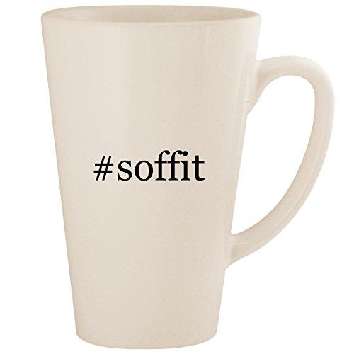 #soffit - White Hashtag 17oz Ceramic Latte Mug Cup