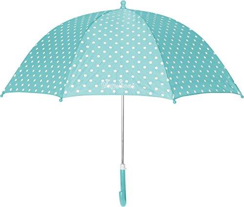 Playshoes Kinder Regenschirm, One Size Schirm mit kindgerechtem Mechanismus, Türkis (Türkis 15)