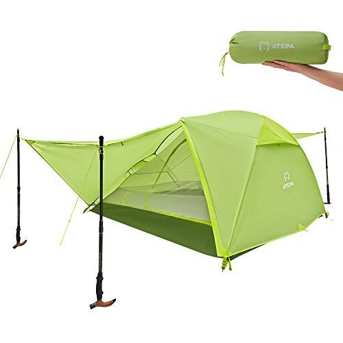 ATEPA Tienda de campaña para 3 personas, ligera, resistente al agua, PU3000 mm, fácil de montar y empaquetar, con bolsa de transporte para exteriores, camping, senderismo