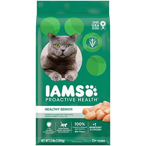 IAMS PROACTIVE HEALTH HEALTHY SENIOR Dry Mature Cat Food...