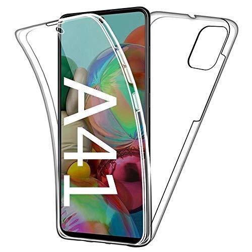 HUANGTAOLI Cover per Samsung Galaxy A41, Custodia 360 Gradi Protezione Trasparente Ultra Sottile in Silicone TPU Anteriore e PC Indietro (SM-A415F, SM-A415FZ, 6.1')