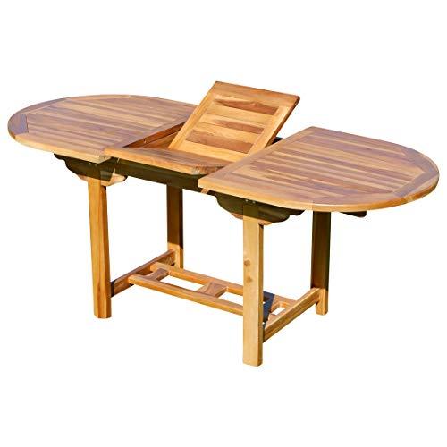 ASS echt Teak Holz Ausziehtisch 140-180 x 80 cm Holztisch Gartentisch Tisch ausziehbar SUMMER-2020