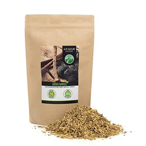Raíz de regaliz seca (250g), raíz de regaliz cortada, 100%