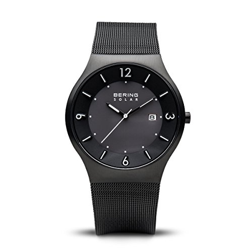 BERING Time | Men's Slim Watch 14440-222 | 40MM Case | Solar Collection | Stainless Steel Strap | Scratch-Resistant Sapphire Crystal | Minimalistic - Designed in Denmark