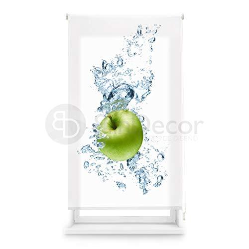 Blindecor Estor Enrollable translúcido Cocina, Waterapple, 90 x 180 (Ancho x Alto)