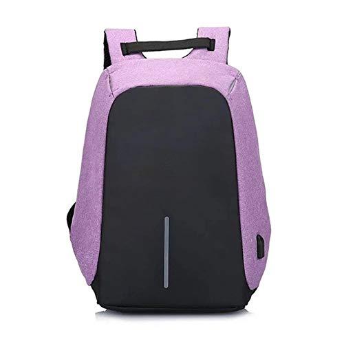Angle-w diseño Elegante, Viajes Sencillos, Bolso de Mochila antirrobo 15.6 Pulgadas para Hombres portátiles Hombre Impermeable Impermeable Paquete de Espalda Backbag Big Capacity School Mochila Vamos