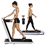 OppsDecor Under Desk Treadmill for Home Folding Electric Treadmill Walking Running Machine Pad Treadmill with Remote Control and Bluetooth Speaker Installation-Free (Gray)