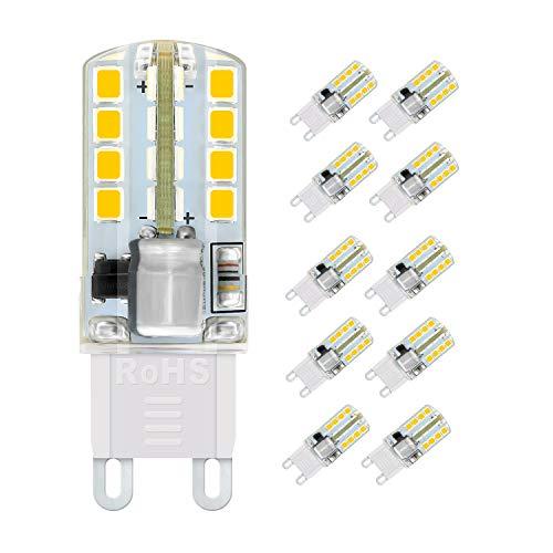 Preisvergleich Produktbild G9 LED Lampen,  WXY 5W 32 x 2835 SMD LED Lampen,  entspricht 40W Halogenlampen,  Warmweiß 3000K,  400LM,  AC220-240V,  360 ° Abstrahlwinkel,  kein Flimmern und nicht dimmbar 10er-Pack