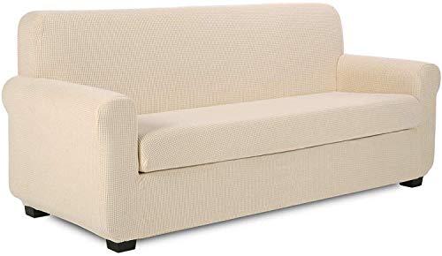 Fundas de sofá Fundas de sofá de 2 Piezas Fundas universales de Tela de poliéster y Spandex 1 2 3 4 Fundas de sofá, Elegantes Fundas de sofá de Jacquard, Protector elástico para sofá de Cubierta c