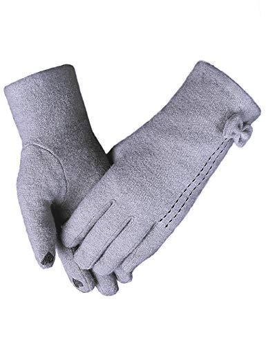 Sykooria handschoenen, dames, winter, touchscreen, verwarmbaar, van kasjmier, zacht, sporthandschoenen, antislip, voor fiets/fiets/motorfiets, touchscreen-handschoenen voor smartphones en tablets
