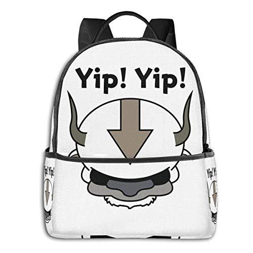 Jupsero Yip Yip Appa Avatar The Last Airbender Mochila escolar para estudiantes Ciclismo escolar Ocio Viajes Camping Mochila al aire libre