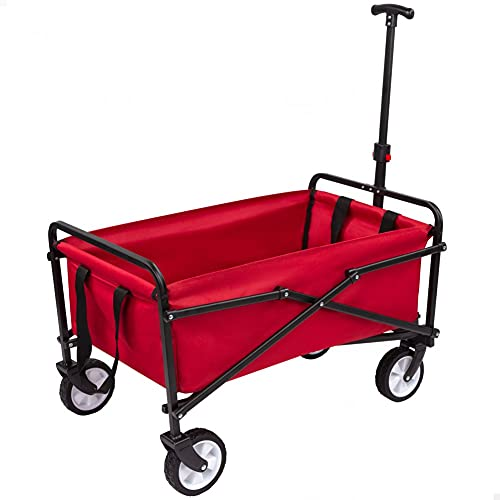 AKTIVE 62651 - Carro portatodo Playa 77x45.5x63/93 cm-Rojo