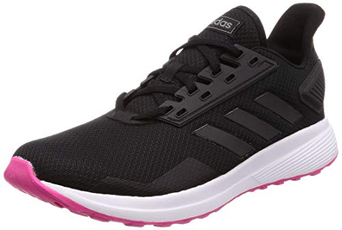 adidas Duramo 9, Zapatillas de Running para Mujer, Negro (Core Black/Core Black/Shock Pink Core Black/Core Black/Shock Pink), 42 2/3 EU