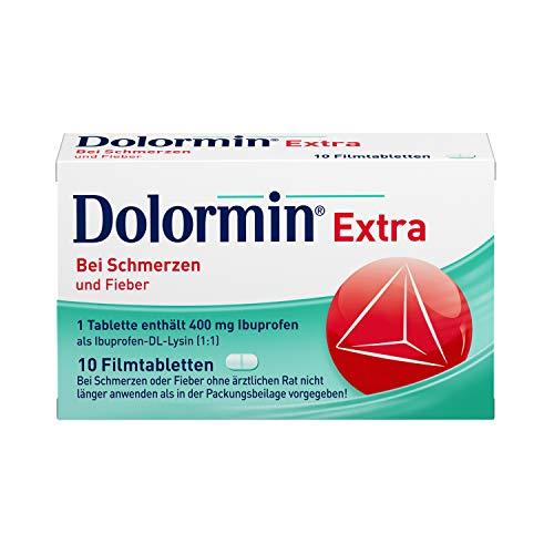 Preisvergleich Produktbild Dolormin Extra Schnelle Hilfe bei Schmerzen wie Kopf-,  Zahn- und Regelschmerzen mit Ibuprofen-Lysin 10 Stück