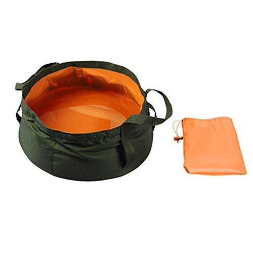 Camping pliant pour pattes sales de lavabo Lavabo Eau Sac Sports de plein air, Orange