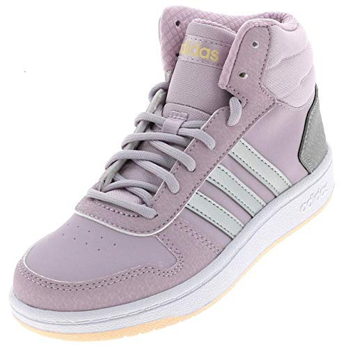 adidas Hoops Mid 2.0 K, Zapatos de Baloncesto Unisex Niños, Morado (Mauve/Matte Silver/Light Granite Mauve/Matte Silver/Light Granite), 30 EU