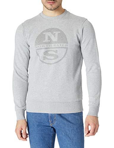 NORTH SAILS Round Neck W/Graphic Maglia di Tuta, Grey Melange, Medium Uomo