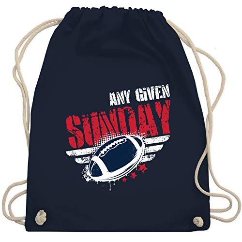 Shirtracer American Football Outfit Trikot - Any Given Sunday Football New England - Unisize - Navy Blau - american football - WM110 - Turnbeutel und Stoffbeutel aus Baumwolle