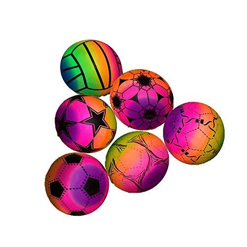 STUWU 4X Kunststoffball Beachball 22cm inkl. Ballnadel Fussball Wasserball Gymnastikball versch. Farben …