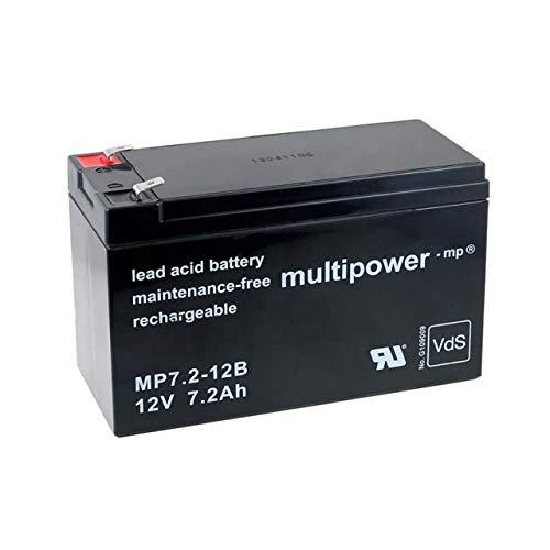 Powery Batterie Rechargeable de Remplacement pour USV APC Back-UPS ES 550, 12V, Lead-Acid [ Batterie au Plomb ]