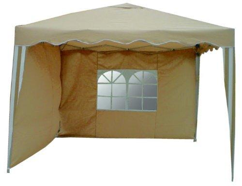 2 Seitenteile für Alu Falt Pavillon beige - PO2413