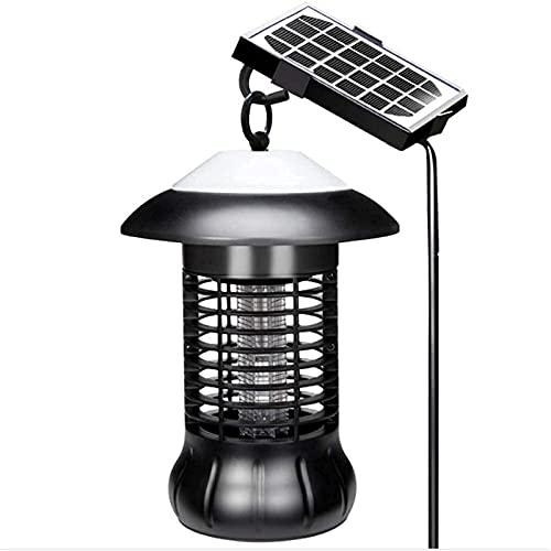 XCTLZG Lámpara solar del asesino del mosquito, lámpara del asesino del mosquito al aire libre 360°UV trampa impermeable camping linterna 2in1 portátil USB anti mosquito mosca asesino lámpara