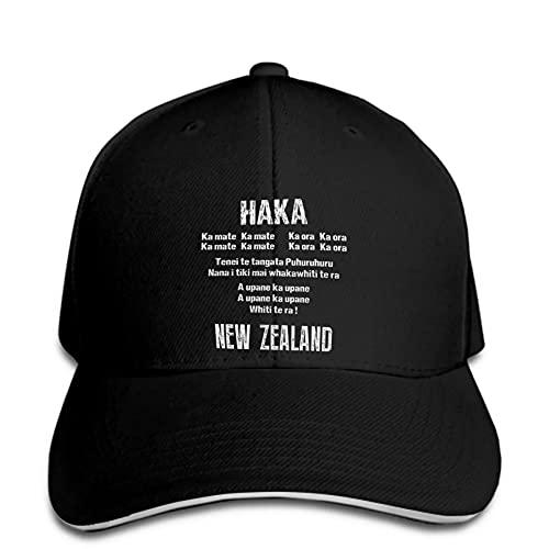 Berretto da Baseball Uomo Donna Zelanda Rugby Nero Funny World Snapback Cappello con Visiera con Visiera Regolabile Stampato Cappello Visiera Regalo