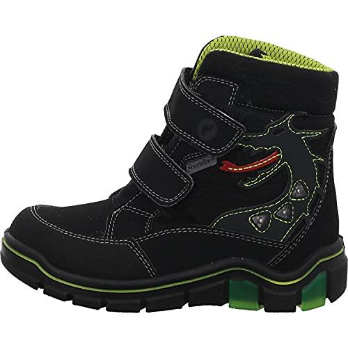 RICOSTA Jungen Boots GRISU, Weite: Mittel (WMS),Sympatex,Blinklicht,Outdoor-Kinderschuhe,gefüttert,wasserdicht,schwarz (092),31 EU / 12 Child UK