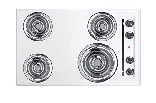 Summit WEL05 Electric Cooktop, White