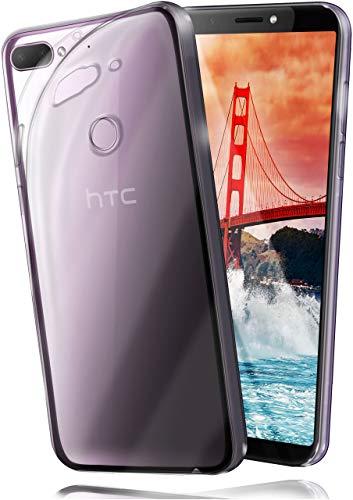 moex Aero Case für HTC Desire 12+ - Hülle aus Silikon, komplett transparent, Handy Schutzhülle Ultra dünn, Handyhülle durchsichtig - Klar