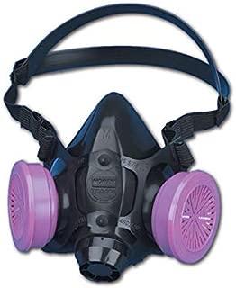 North by Honeywell 770030M 7700 Series Half Mask Respirator W/O Filter, Capacity, Volume, Standard, Medium, Navy