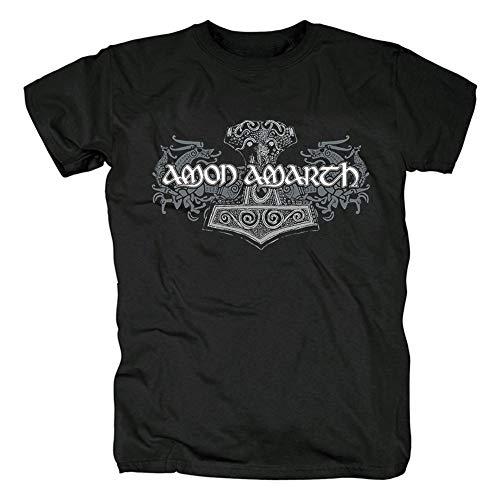 Herren T-Shirt Amon Amarth, kurzärmlig, T-Shirt für Damen Gr. XL, Schwarz