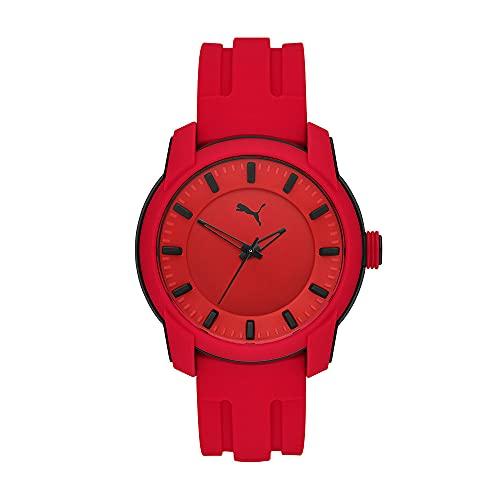PUMA Reloj para hombre PUMA 2 de policarbonato en tono negro con tres agujas, P6019