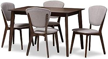 Baxton Studio Upholstered 5-Piece Dining Set