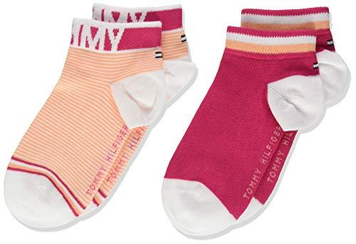 Tommy Hilfiger Mädchen TH Kids Quarter 2P FINE Stripe Socken, Rosa (Pink Lady 026), 27-30 (Herstellergröße: 27/30) (2er Pack)