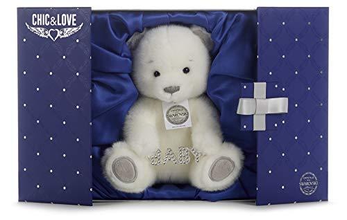 Posh Paws Chic & Love 37442 - Oso Bailey Grande con Colgante de bebé con Cristal Swarovski en Caja de Regalo